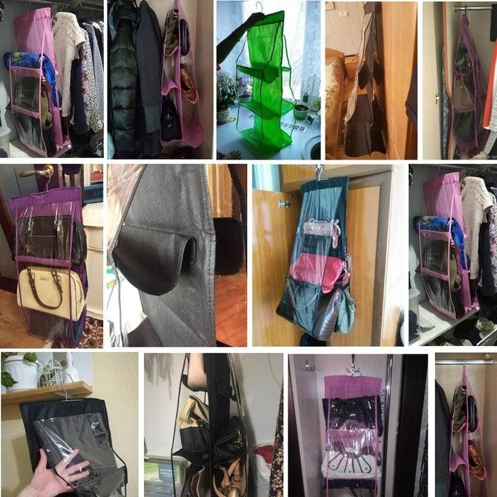6 Pocket Hanging Handbag Organizer Goodsvine Handbag Organization Wrinkled Clothes Pocket Handbag