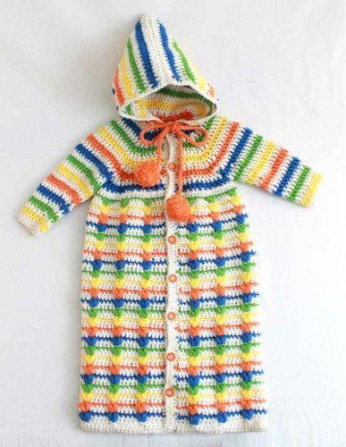 Puff Stitch Baby Bunting Crochet Pattern