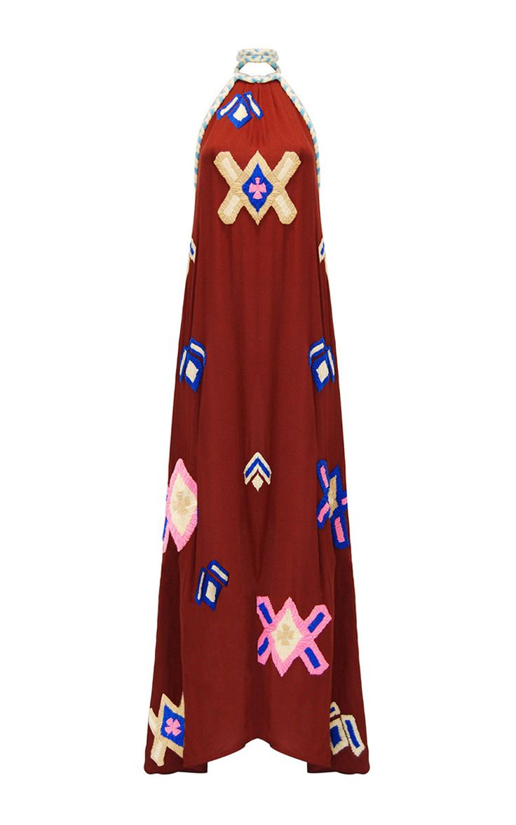 2017 Lila Embroidered Halter Neck Dress by Mochi | Moda Operandi…