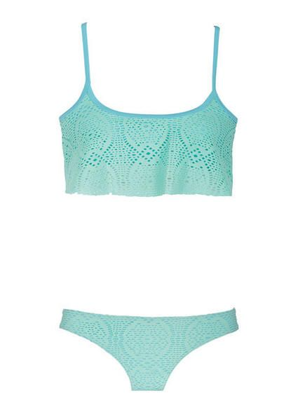 This is almost exactly lile my new swim suit except mine has black boy  short bottoms :D