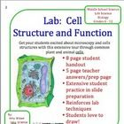 This is a very extensive lab lesson plan on cell structure and function.  This lab can be used with grades 6 through 12.  It is great for younger s...