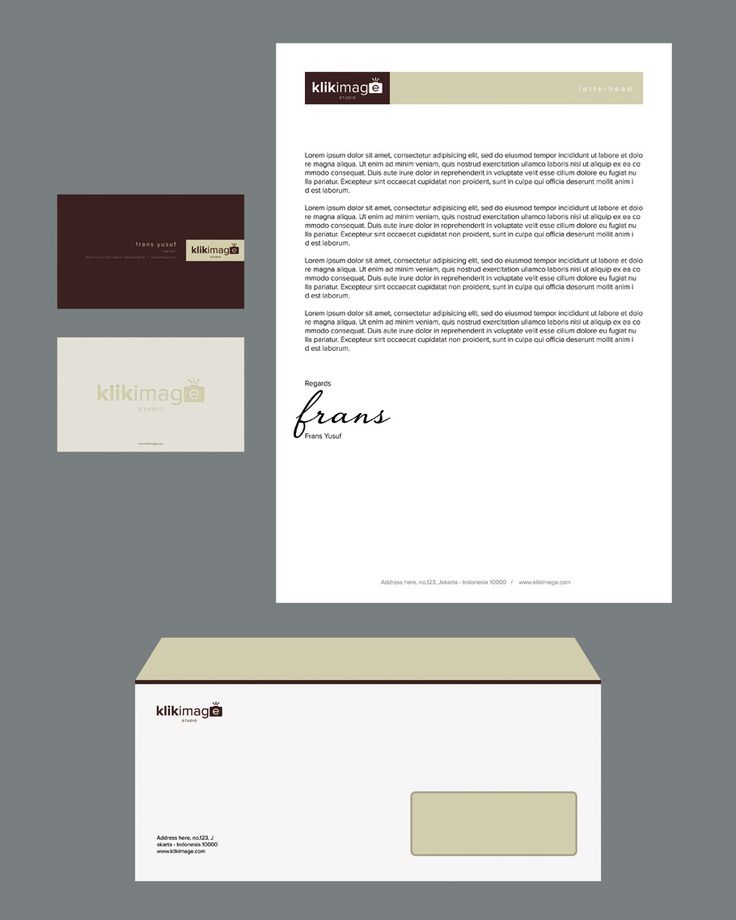 Stationery Design for klikimage Studio