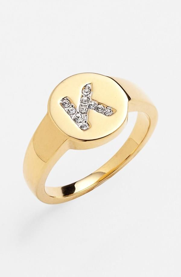 Bling Bling Initial Ring Shiny Things Pinterest