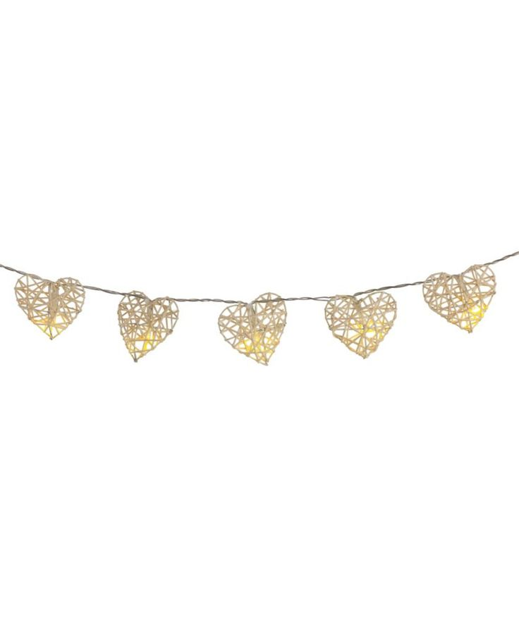 Buy 20 Rattan Hearts String Lights at Argos.co.uk - Your Online Shop for Novelty lighting, Novelty lights.