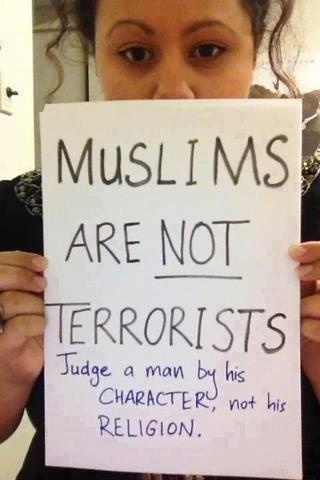Muslims are not terrorists and islam is the religion of peace , just first get knowlege of islam