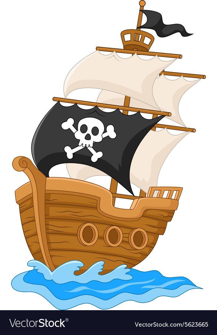 Illustration Of Pirate Ship Illustration Download A Free Preview Or High Quality Adobe Illustrator Ai Eps Pdf Piratskie Torty Detskie Risunki Piratskaya Tema