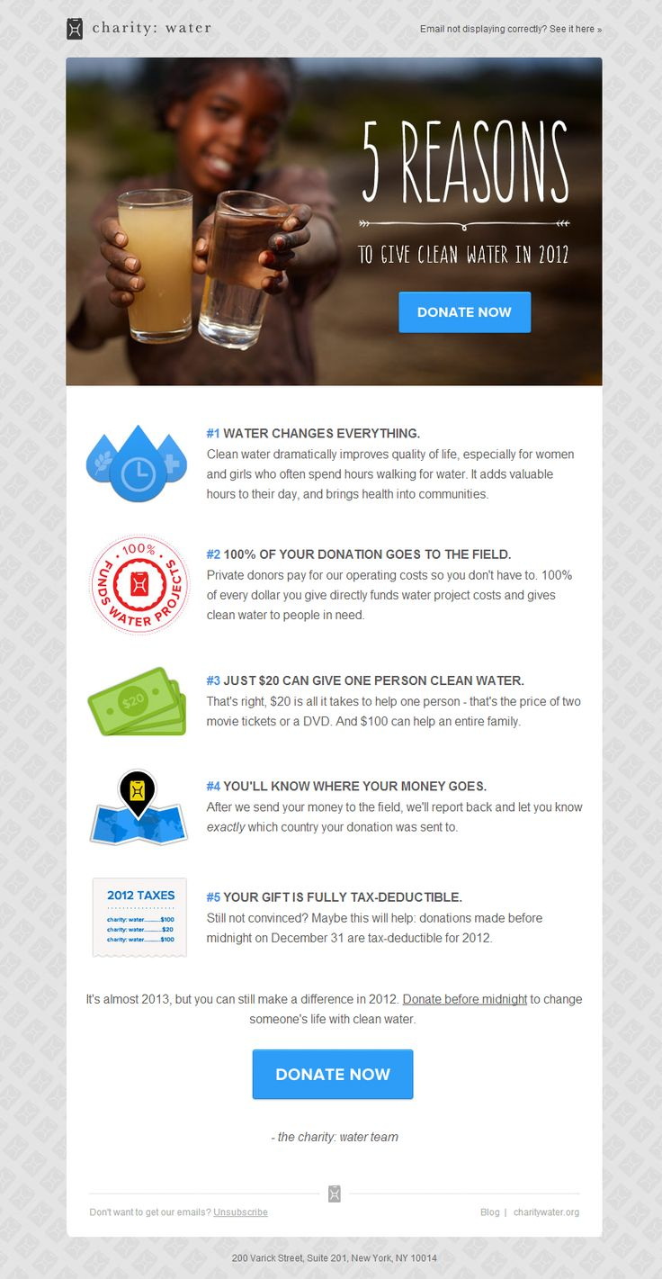 Charity Water: Close out 2012 by giving clean water.