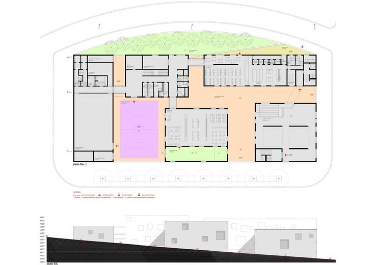 Antas Educative Center_Plan + Elevation Plan