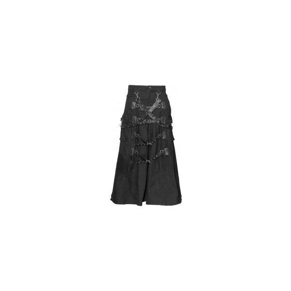 Gothic shop: bondage strap men's skirt by Raven SDL ❤ liked on Polyvore featuring men's fashion