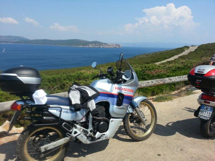 Traveling in #Sardegna! #turismo #touring #viaggio #travel #foto #snapshot #motoparti #moto #transalp #honda