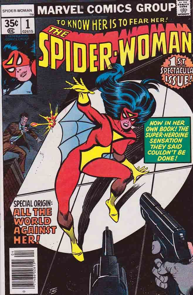 Spider-Woman #1 Origin of Spider-Woman Penciled by Carmine Infantino / Story by Marv Wolfman / Spider-Woman is inside a grocery store after closing hours thinking of stealing food. She continues to contemplate what to do with her life and who she really is and decides not to steal. Sneaking out of the store, she is confronted by Jerry Hunt, who tries to stop her. http://www.rarecomicbooks.fashionablewebs.com/Spider-Woman.html #carmineinfantino #spiderwoman #spiderman #marvwolfman