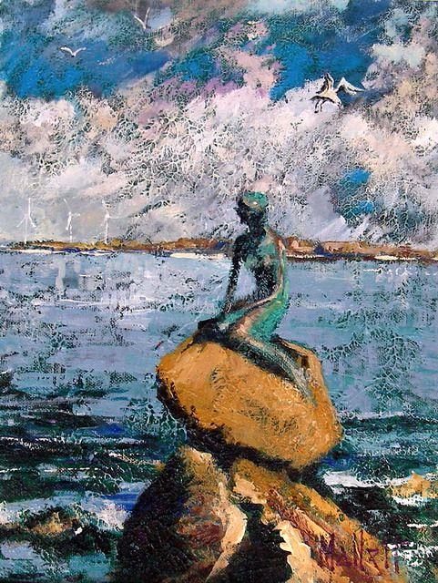 Timmy Mallett - Interests - Painting - Copehagen - little mermaid!