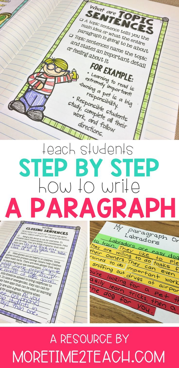 Paragraph Writing Step By Step Lessons Interactive Notebook Activities More Topic Sentences Paragraph Writing Interactive Writing [ 1512 x 736 Pixel ]
