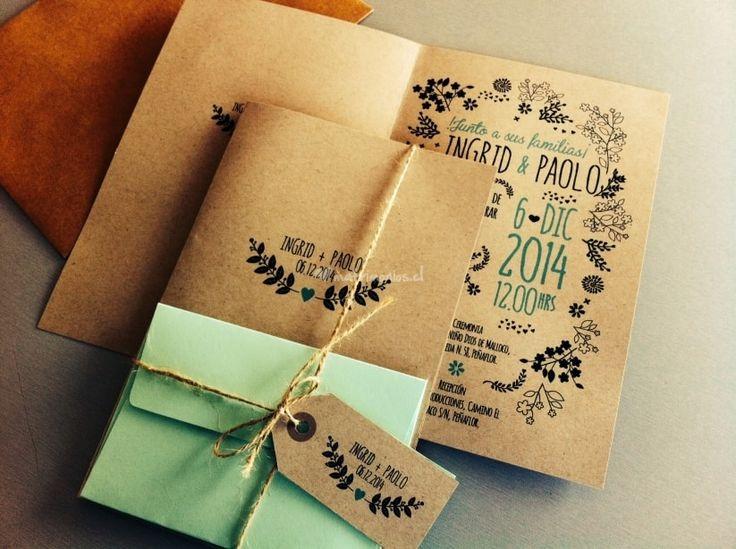 M s de 25 ideas fant sticas sobre invitaciones de for Pateres originales