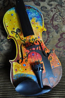 Meredith Phillips Photography: Painted Violin 2 - Stars of Texas