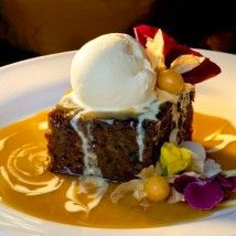 Sticky Date Pudding recipe – The Dalvay-by-the-Sea Resort in Prince Edward Island National Park serves this delicious dessert with Toffee Sauce and French vanilla ice cream. Nice.