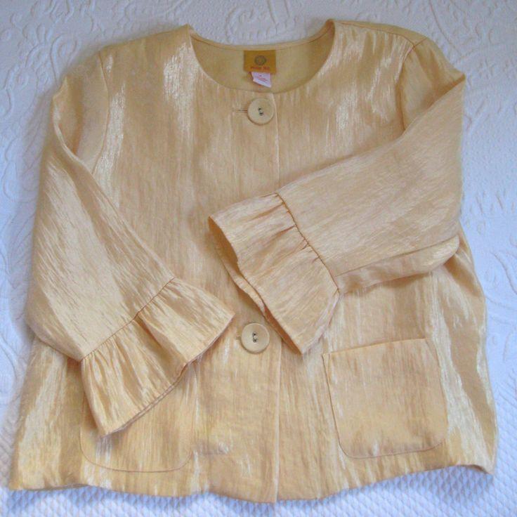 festive blouse . gold blouse . size 14 . plus size blouse. festive jacket . gold jacket by vintagous on Etsy