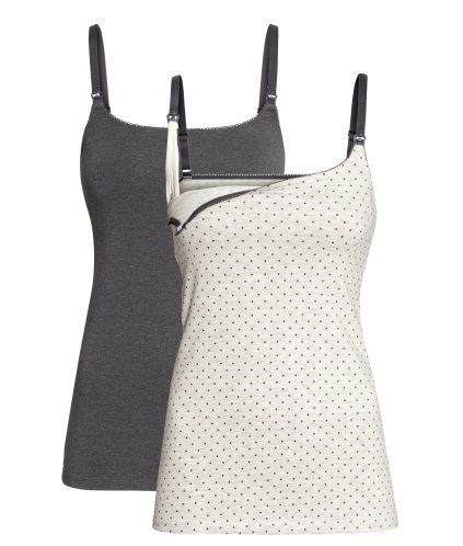 MAMA 2-pack Nursing Tank Tops | Product Detail | H&M
