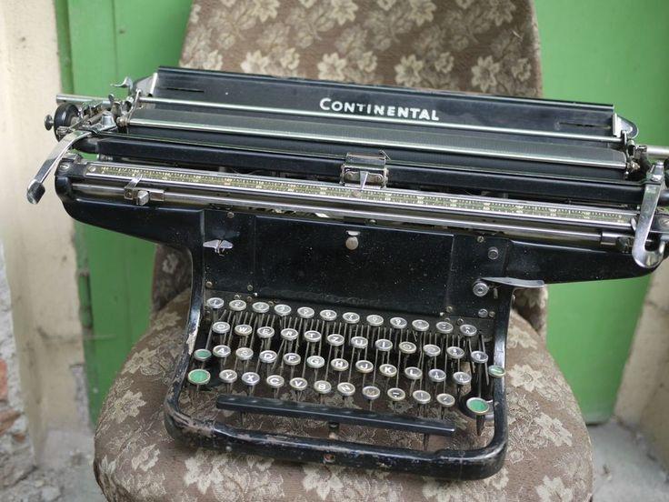 Antique Continental Rare Typewriter large format type