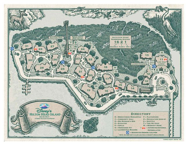 Disney S Hilton Head Island Resort Map Disney S Hilton