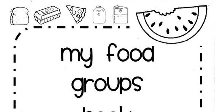 Printable food groups/nutrition booklet