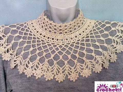 How to openwork crochet collar - http://www.knittingstory.eu/how-to-openwork-crochet-collar/