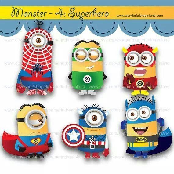Super heroes Minion | Clip Art | Pinterest | Minions and Heroes