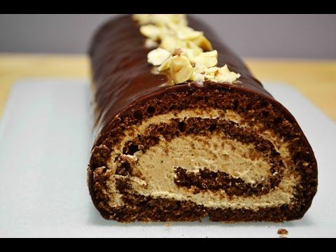 Шоколадный РУЛЕТ с Шоколадным ЗАВАРНЫМ КРЕМОМ |  Безумно Вкусный!  | Sponge roll - YouTube
