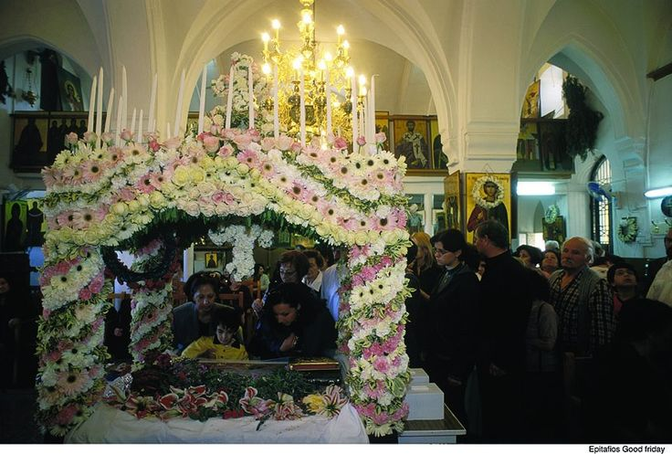 """Cyprus Tradition """"Easter"""". For Cypriots, Easter is more than a religious festival. It is a time when the nation's oldest traditions, predating even Christianity, come to life and bring family and friends closer together. On Good Friday churches on the island conduct a procession of the """"Epitafios"""" in observance of Jesus' death on the cross."""