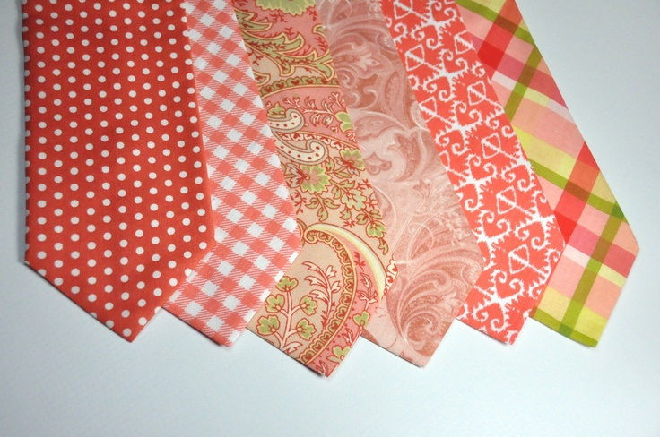 Boy's Neckties Coral Ties  $22.95, via Etsy. second from right? of gingham