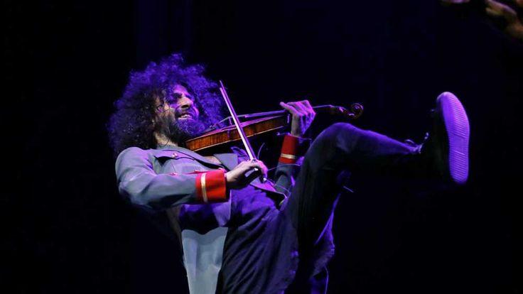 El violinista libanés Ara Malikian, durante su actuación en el Teatro Circo Price dentro de la programación de Los Veranos de la Villa 2015