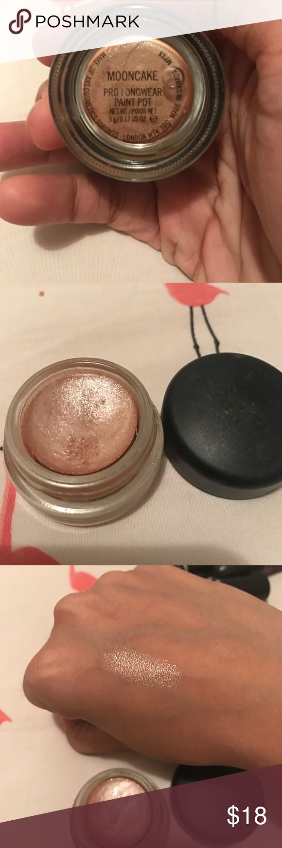 Mac Pro paint pot in moon cake limited edition Mac Pro longeear paintpot in MoonCake. GORGEOUS color. Used few times. MAC Cosmetics Makeup Eye Primer