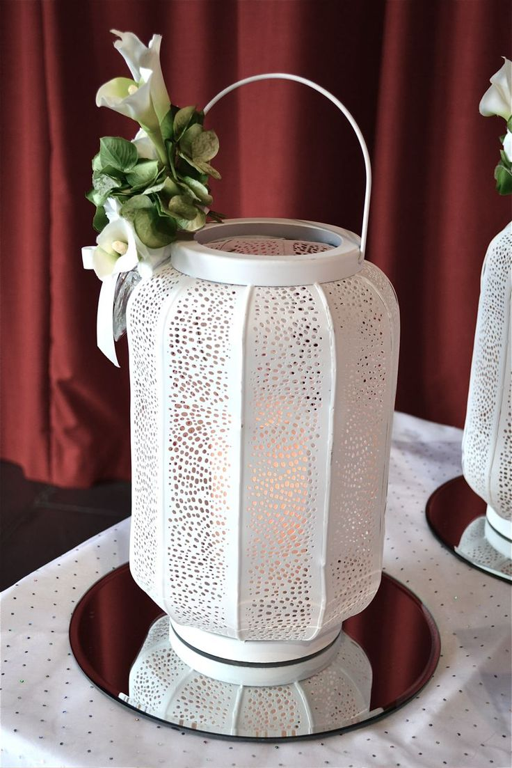 Indian Lantern Accent - Perfect for Registrar and Reception Tables.