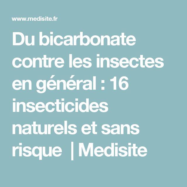 Du bicarbonate contre les insectes en général : 16 insecticides naturels et sans risque | Medisite