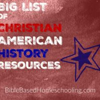 Christian American History Resources   We are studying American History this year, and we have always taught from a Christian worldview. From the littlest kids up to the oldest, we use many Christian resources. I have made a list of some resources for you...for all ages!   American's Providential History From Sea to Shing Sea…