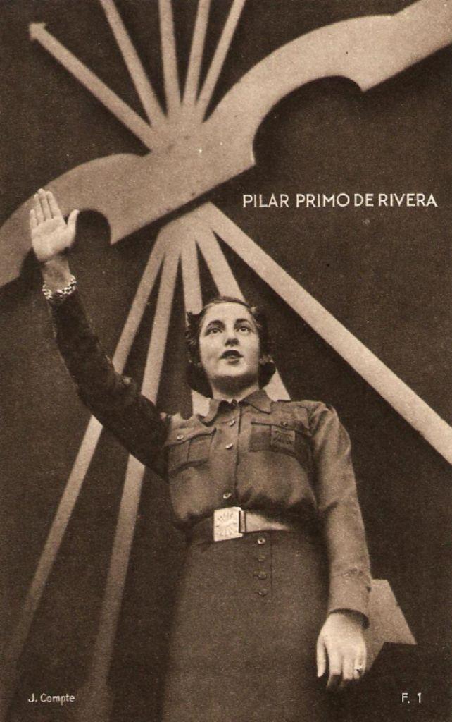 Spain - 1936-39. - GC - poster - Pilar Primo de Rivera, sister of Jose Antonio