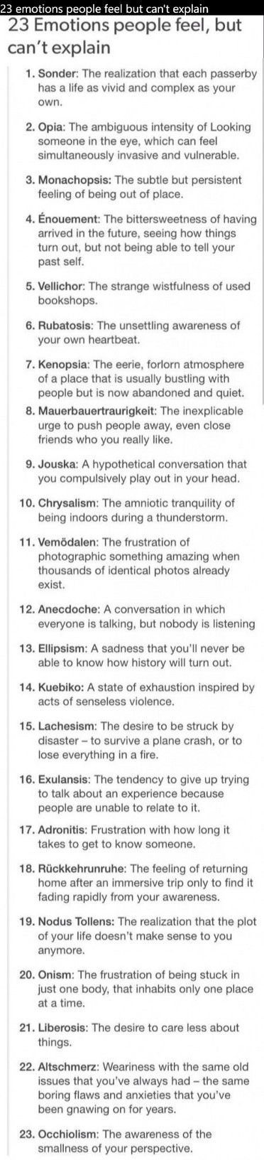 I relate to #1, #5, #6, #9, #23