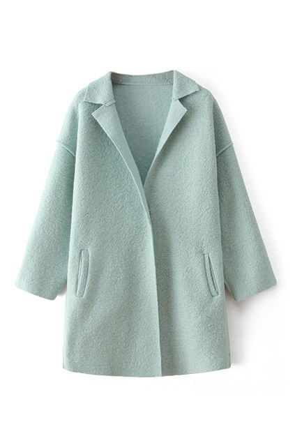 Faux Woolen Light Green Coat 68.41