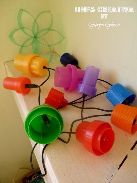 Linfa Creativa: Luci con materiale di riciclo