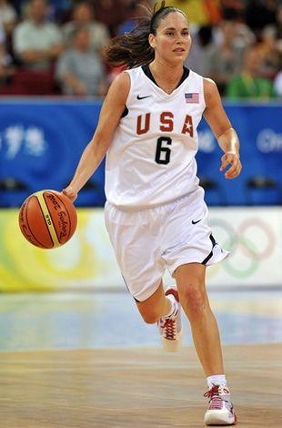 Sue Bird during the Beijing Olympics.