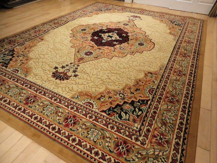Persian Rugs Beige Traditional 8x11 Rug Cream 5x8 Carpet Hallway Runner Door Mat