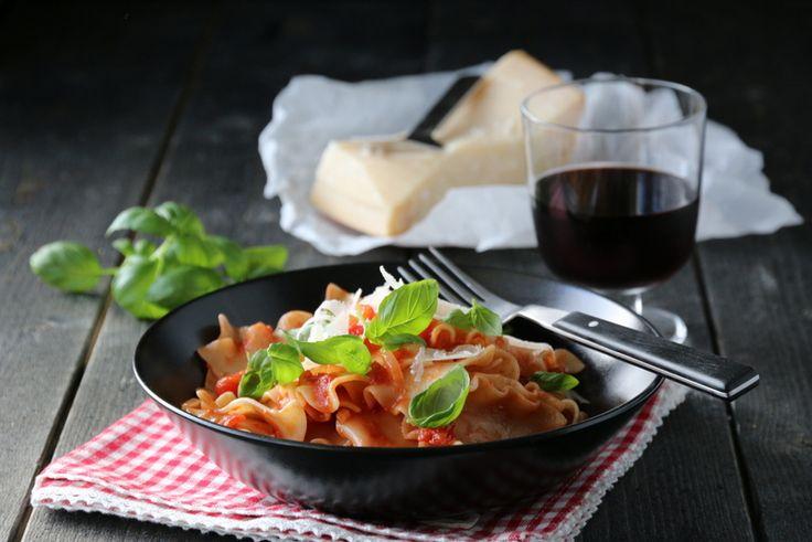 pasta med tomatsaus
