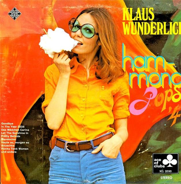 Vintage vinyl record cover - Klaus Wunderlich - Hammond Pops #4.