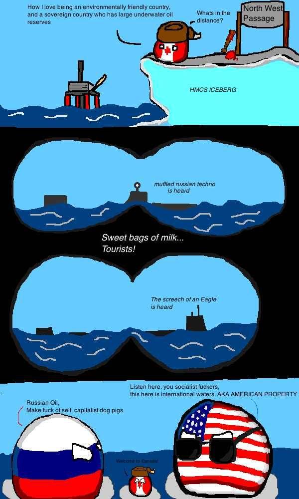 NorthWest Passage | National balls | Funny comics, Twisted