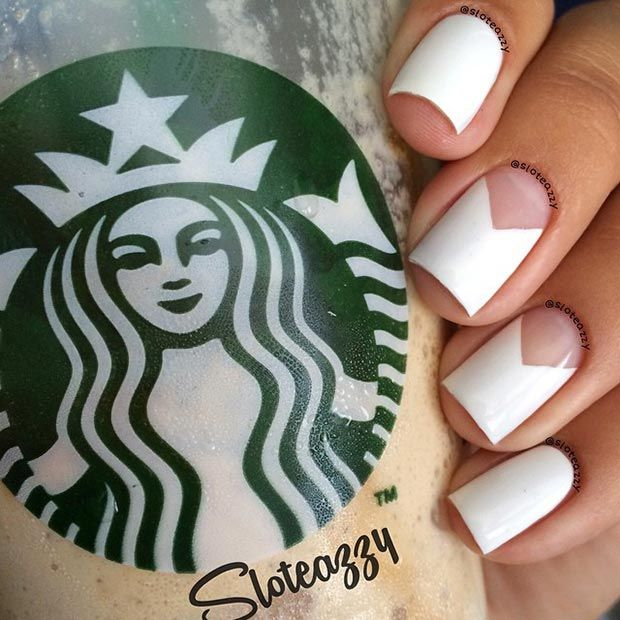Simple White Nail Design for Short Nails