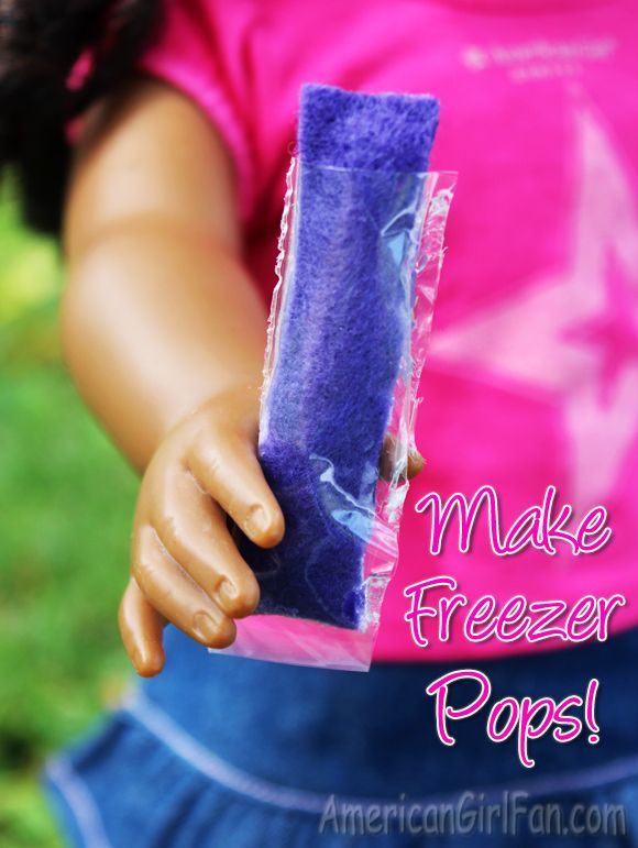 Keep your doll cool on these hot Summer days by making her some freezer pops! These have always been a favorite in my familyand they are even more fun doll-sized. :)  The ingredients you need are: Fe