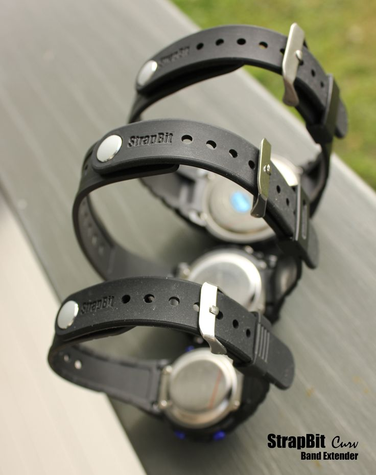 Sports Watch Band Extender - for larger sized wrists! - Adds up to 60mm of extra length to your existing watch band.