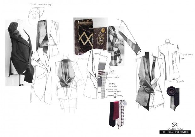 Fashion Sketchbook - tailoring development board; fashion design portfolio // Kanrawee Vechviboonsom