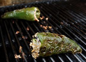 Stuffed Poblanos with Black Beans and Cheese #ChowBBQ
