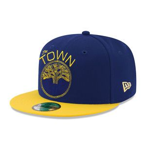 new product b9217 14554 Golden State Warriors New Era  The Town  9FIFTY Snapback - Royal Gold